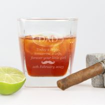Personalised Engraved Father of the Bride Whiskey Scotch Glass Wedding Gift