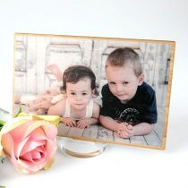 Personalised Professionally Photo Printed in Full Colour on Bamboo Frame Mother's Day Present