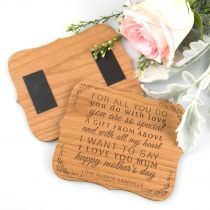 Personalised Engraved Magnetic Wooden Mother's Day Plaque Present