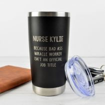 Personalised Engraved Miracle Worker Stainless Steel Insulated Travel Mug