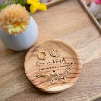Personalised Engraved Wooden Mother's Day Trinket Dish Present