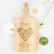 Personalised Engraved Mother's Day Wooden Kitchen Serving Chopping Paddle Board Present