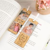 "Personalised Photo Printed ""Best Nana Ever"" Mother's Day Wooden Bookmark Present"