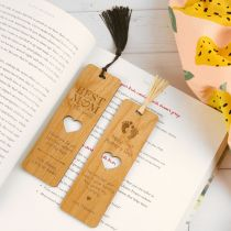 Personalised Engraved Mother's Day Wooden Bookmark Present