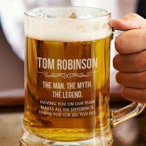 Corporate Gift Beer Mug Congratulations