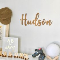 Personalised Laser Cut Baby's Name Wooden Nursery Sign