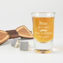 Best Man Wedding Shot Glass