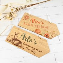 Personalised Colour Printed Easter Egg Hunt Signs