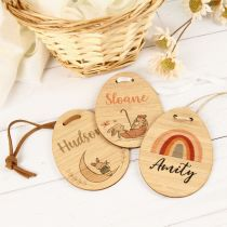 Personalised Full Colour Printed Easter Egg Basket Gift Tags