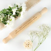 Personalised Engraved Wooden Rolling Pin Birthday Present