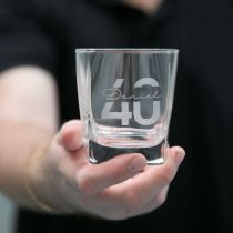 Personalised Engraved 40th Birthday Milestone Scotch Glass Present