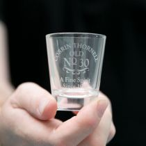 Personalised Engraved Classic 30th Birthday Shot Glass Present