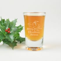 Personalised Engraved Christmas Shot Glass Present