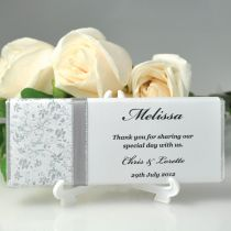 Printed Wedding Chocolate Bar Favours With Guest Name