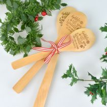 Personalised Engraved 3 piece wooden Spoon Christmas Present