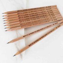 Engraved Student Graduation Wooden Pencils Set of 10