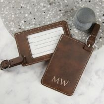 Personalised Engraved Birthday Leatherette Luggage Tag Birthday Gift