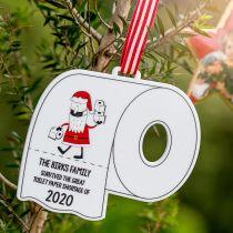 Customised Printed Acrylic Toilet Shortage 2020 Christmas Decoration