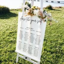 Personalised printed acrylic A1 Size Wedding Frosted Welcome and seating plan Sign