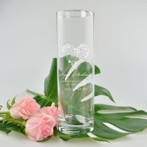 Engraved Vase Wedding Gift