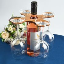 Engraved Wooden Group Therapy Butler Set With Complimentary Wine Glasses