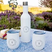 Personalised Engraved Stainless Steel Insulated Wine Travellers Set