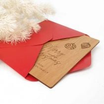 Personalised Engraved Wooden Christmas Card with C6 Envelope