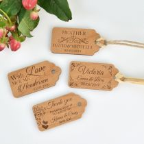 Wooden Wedding Gift Tag With Guest Names Wedding Favour