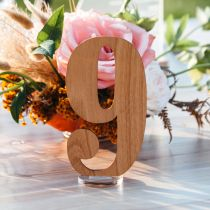 Laser Cut Wooden Wedding Reception Table Numbers With Clear Acrylic Stand