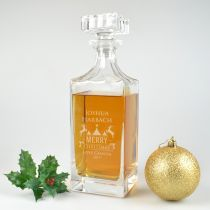 Personalised Engraved Christmas Whiskey Decanter Present