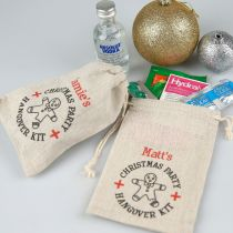 Personalised Colour Printed Christmas Corporate Party Hangovers Kits Gifts