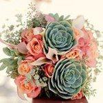 Succulent Wedding boquet