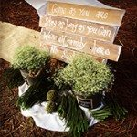 Wedding decor Rustic
