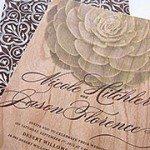 Succulent Wooden Invite