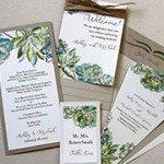 Succulent Print Invitation