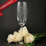 Christmas Toasting Glass