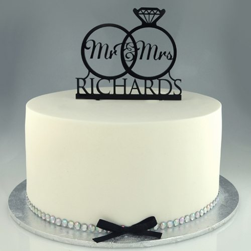 Personalised Acrylic Cake Toppers
