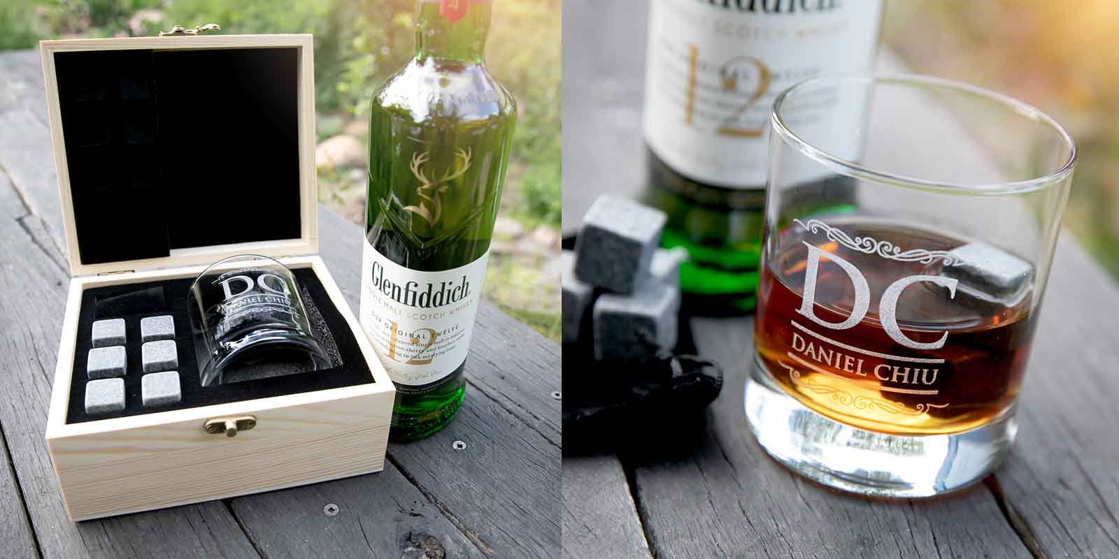 Engraved Birthday Wooden Gift Boxed Scotch Glass